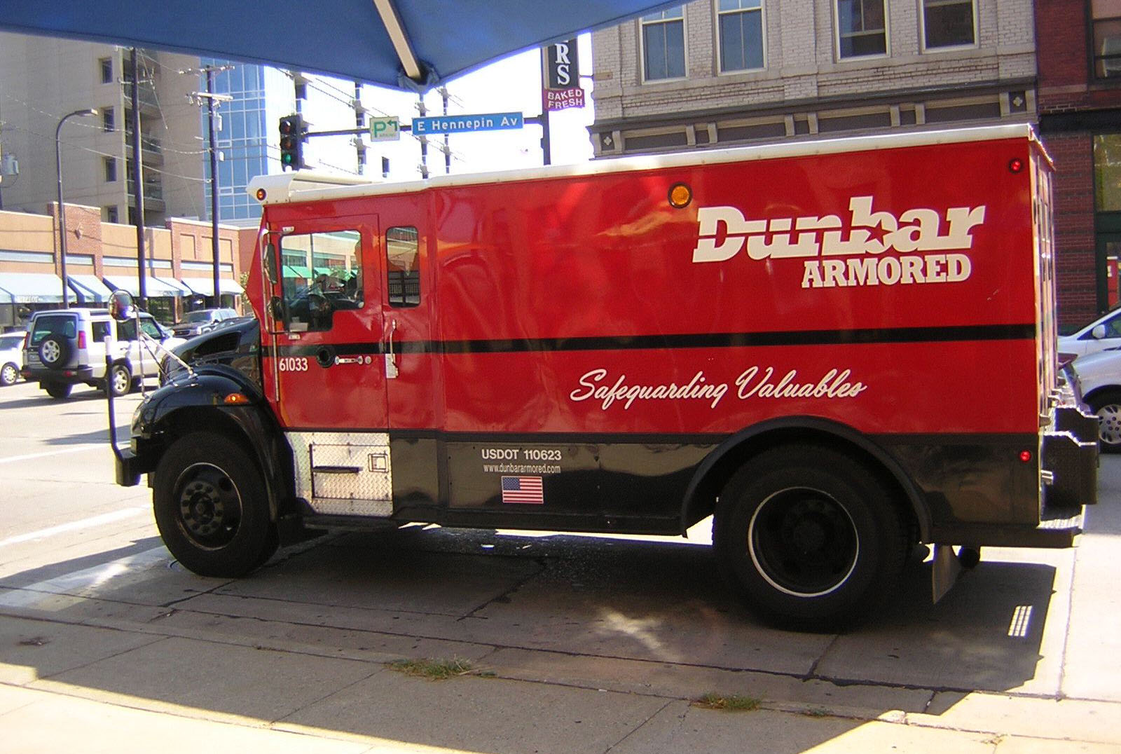 Armored truck carrying cannabis