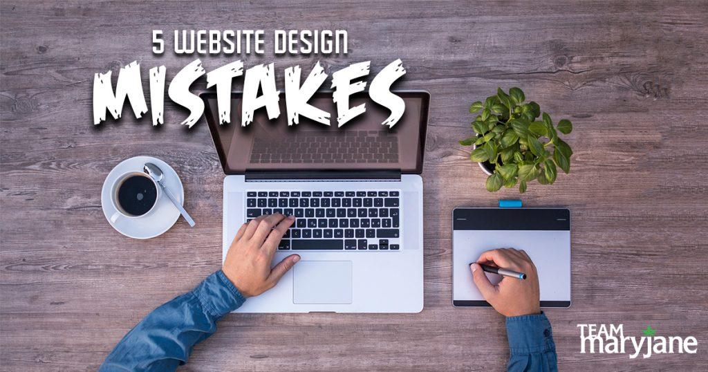 Cannabis Website Design Mistakes